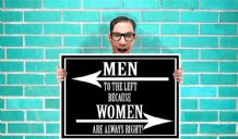 Men to the left because Women are always right Art - Wall Art Print Poster   - Geekery Art Geekery